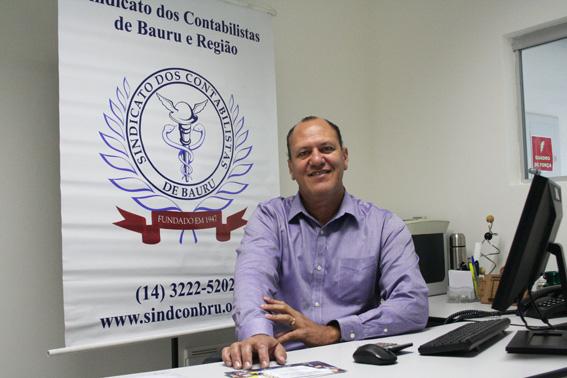Presidente Rui Rocha Junior em expediente na Sede do Sindicato