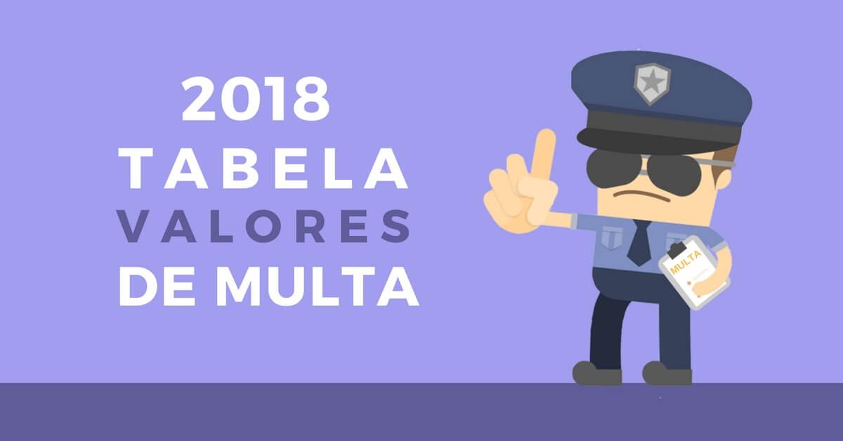 de4fcf2deb3c5 TABELA DE MULTAS 2018 – VALORES E TIPOS DE INFRAÇÕES ATUALIZADOS ...